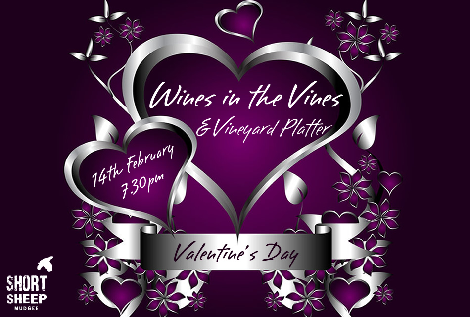 Valentines Day Wines in the VInes
